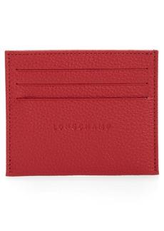 Longchamp Le Foulonne Leather Slim Card Case