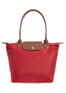 Longchamp Small Le Pliage Nylon Shoulder Tote - Red
