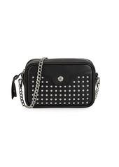 Longchamp Studded Convertible Leather Crossbody Bag