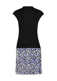 Louis Vuitton Sleeveless Bi-Material Knit Dress