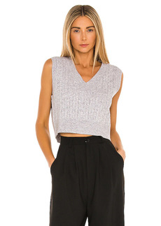 Lovers + Friends Cropped Cable Sweater Vest