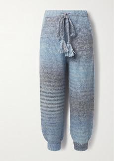 LoveShackFancy Blossom Knitted Track Pants