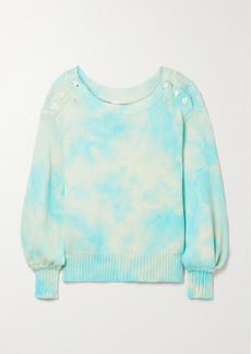 LoveShackFancy Gallatin Oversized Tie-dyed Cotton-blend Sweater