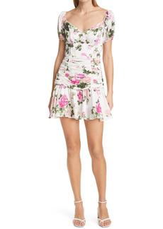 LoveShackFancy Ambrette Floral Minidress