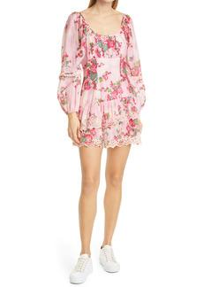 LoveShackFancy Ambrosia Floral Long Sleeve Minidress