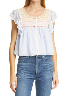 LoveShackFancy Deona Cotton Top