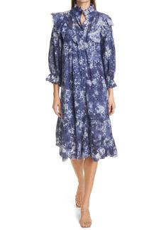 LoveShackFancy Elspeth Tie Dye Lace Dress