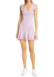 LoveShackFancy Jax Smocked Cotton Minidress