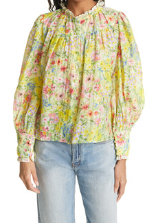 LoveShackFancy Lumiere Floral Blouse