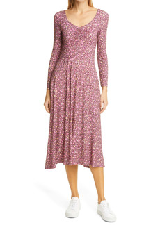 LoveShackFancy Poeta Long Sleeve Jersey Dress