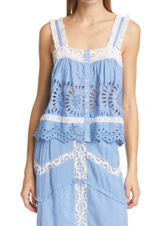 LoveShackFancy Sully Lace Camisole