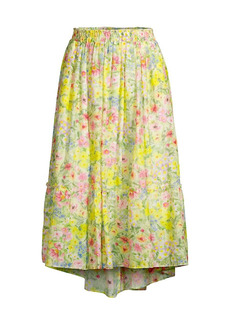 LoveShackFancy Pineville Pond Cotton Silk Kamala Skirt