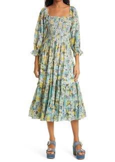 Women's Loveshackfancy Capri Smocked Tiered Dress