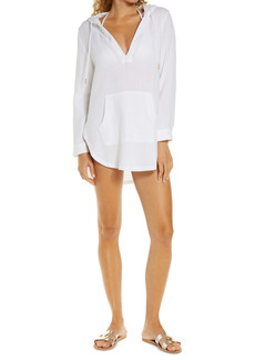 L*Space L Space Caswell Long Sleeve Hooded Seersucker Cover-Up