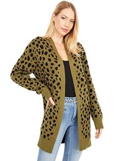Lucky Brand Leopard Mid Length Cardigan