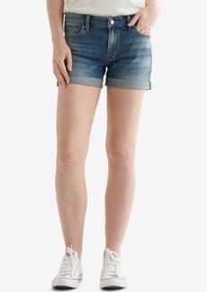 Lucky Brand Ava Cuffed-Hem Denim Shorts
