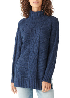 Lucky Brand Cable Cotton Blend Tunic Sweater