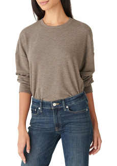 Lucky Brand Cloud Fleece Long Sleeve Top