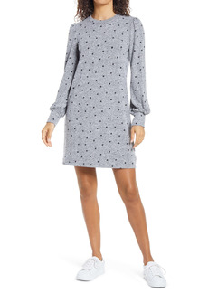 Lucky Brand Cozy Long Sleeve Knit Shift Dress