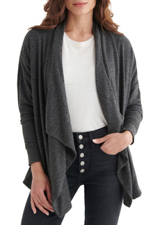 Lucky Brand Draped Cloud Jersey Cardigan