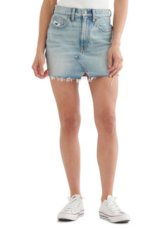 Lucky Brand High Waist Cutoff Denim Skirt
