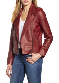 Lucky Brand Leather Moto Jacket