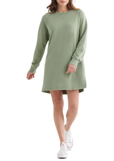 Lucky Brand Long Sleeve Cotton Fleece Dress
