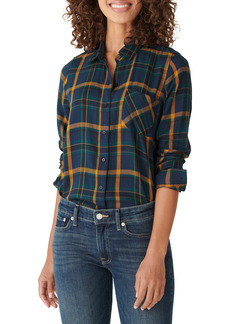 Lucky Brand Plaid Cotton Blend Flannel Button Up Shirt