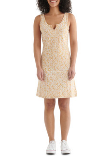 Lucky Brand Scallop Notch Sleeveless Cotton & Modal Knit Dress
