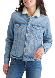 Lucky Brand Tomboy Faux Shearling Lined Trucker Jacket