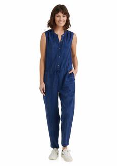 Lucky Brand Women's Misses Sleeveless Button Front Tie Waist Hayley Jumpsuit  XL