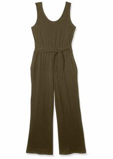 Lucky Brand Women's Misses Sleeveless Scoop Neck Wide Leg Knit Jumpsuit  XL