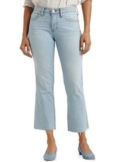 Lucky Brand Mid-Rise Ava Crop Mini Bootcut Jeans in Sevia