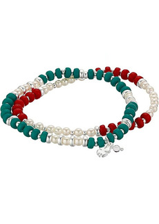 Lucky Brand Turquoise & Cherry Beaded Layer Bracelets