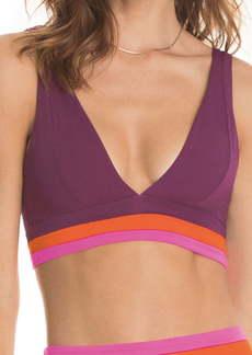 Maaji Vintage Grape Paradizzia Reversible Bikini Top