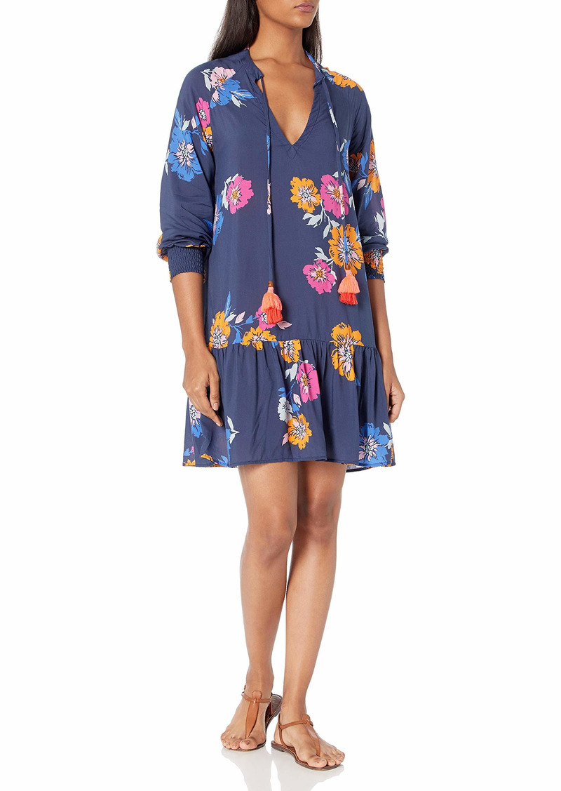 Maaji Women's Long Sleeve V Neck Tunic Short Dress