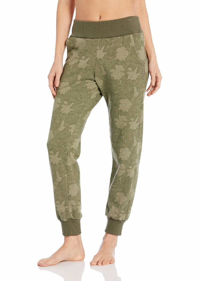 Maaji Women's Swift French Terry Crop Jogger Pant with Stud Detail