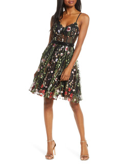 Mac Duggal Embroidered Fit & Flare Cocktail Dress