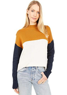 Madewell Colorblock Ashbury Mockneck Sweater
