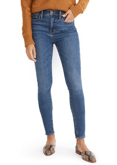 Madewell 10-Inch High Waist Skinny Jeans (Wendover Wash)