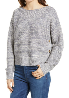 Madewell Boat Neck Side Button Sweater