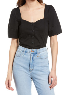 Madewell Button Front Bodice Top