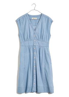 Madewell Cap Sleeve Denim Midi Dress