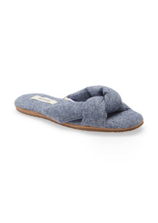 Madewell Chambray Crisscross Scuff Slipper (Women)
