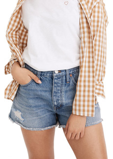 Madewell Curvy Relaxed Ripped Shorts (Homecrest Wash)