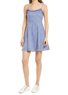 Madewell Floral Ruffle Trim Cotton Dress