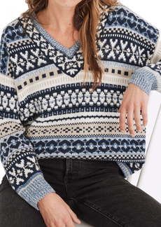 Madewell Forrest Fair Isle Women's V-Neck Sweater