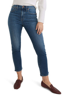 Madewell High Waist Ankle Stovepipe Jeans (Leman Wash)