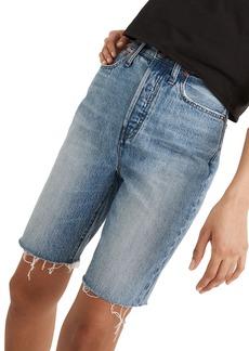 Madewell High Waist Long Denim Shorts (Brightwater Wash)