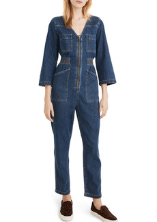 Madewell Patch Pocket Denim Coverall Jumpsuit